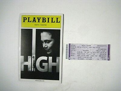 High Playbill 2011 Booth Theatre Opening Night April 19 Kathleen Turner Ticket