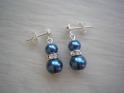 Classic Pearl Stud Drop Earrings for her Bridal Bridesmaids Wedding Party 57S