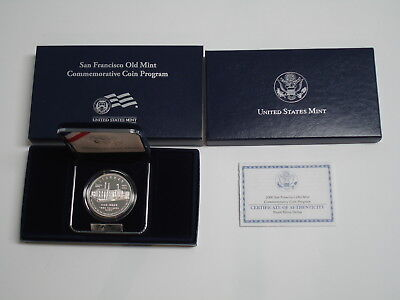 2006 San Francisco Old Mint Proof Silver Dollar C.o.a. Included New Mib!!!
