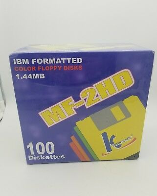 QTY-100, K HyperMedia MF-2HD IBM Formatted Floppy Diskettes