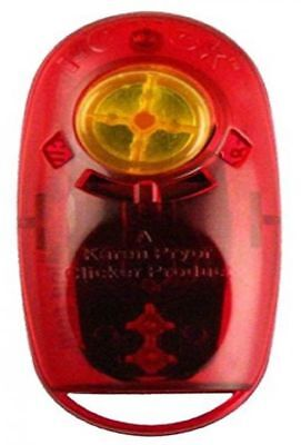 Karen Pryor Clicker Training Tool Obedience Aid I-Click Jewel Clicker Ruby Red