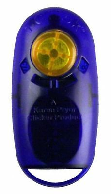Karen Pryor Clicker Training Tool Obedience Aid I-Click Jewel Sapphire Blue