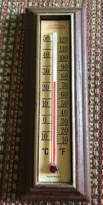 Vintage Working Sunbeam Indoor Wall Thermometer Made In USA 6 Inch