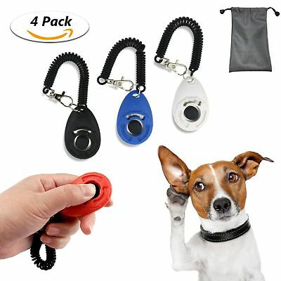 TedGem Training Clickers For Dog Cat Puppy Pet Obedience Behaviour Aid Tool