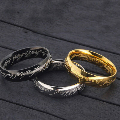 The Lord of the rings Lotr Charm Stainless Steel Fashion Women Men's Ring Gift