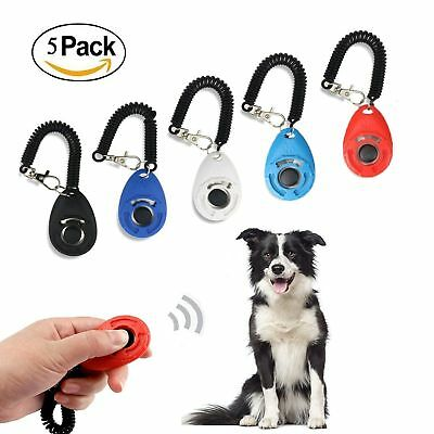 Ewolee Training Clicker Dog  With Wrist Band Big Button Set For Training Dog Cat