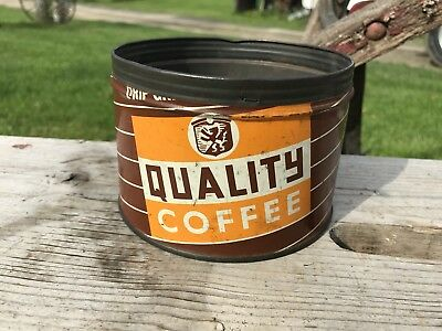 Uncommon Quality Coffee Tin , Brown  One Pound Can
