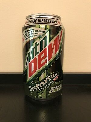 One UNOPENED and Full Can Of Dewmocracy Mountain Dew Distortion