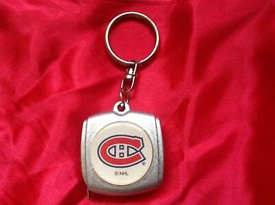 Vintage Montreal Canadiens Key Chain Measuring Tape
