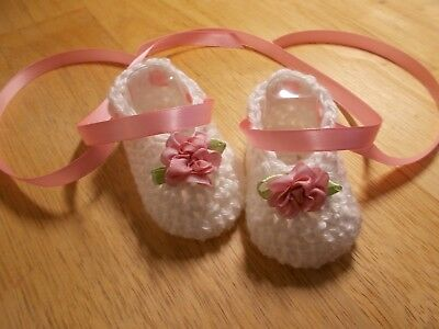Hand crochet baby shoes,Preemie- 0-3 & 3-6 months by Rocky Mountain Marty