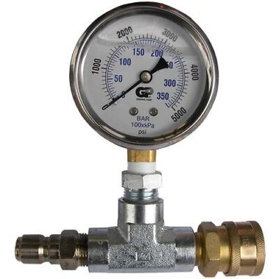 Pressure Washer Quick Connect 5000 PSI Pressure Gauge ATG001 3/8 QC