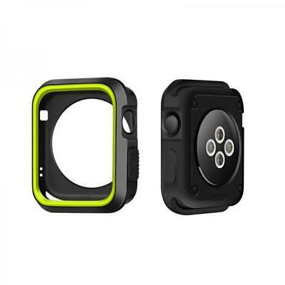 For iWatch Series 1 2 3 42mm Mix Color Slim Rugged Protective Silican Case E2#