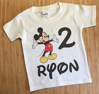 1 Personalized Mickey Mouse Birthday t shirt Disney World Birthday Minnie Mouse