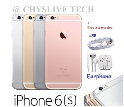 APPLE iPHONE 6s - 16GB / 64GB / 128GB - 6S Unlocked  Smartphone GOLD SILVER GREY