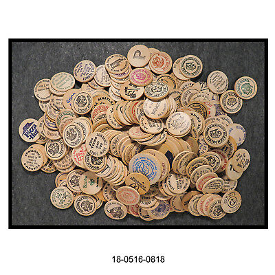 Mixed Lot of 290 Plus Wooden Nickels