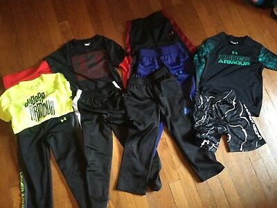 Lot of Nike and Under Armour youth toddler Boys Clothing Size 4, and 4t