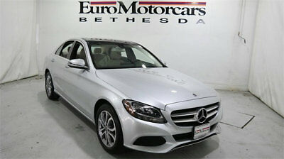 Mercedes-Benz C-Class C 300 4MATIC Sedan mercedes benz c300 c 300 4matic awd silver demo 17 18 used navigation blind spot