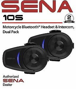 Sena 10S Dual Pack Motorcycle 4.1 Bluetooth Communication System