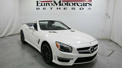 Mercedes-Benz SL-Class 2dr Roadster SL 63 AMG convertible mercedes benz sl63 sl 63 13 14 white navigation used certified black