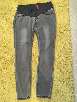 Maternity Grey New Look Skinny Jeans Size 12