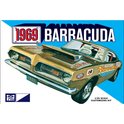 1969 Plymouth Barracuda 1:25 Scale Model Kit MPC832