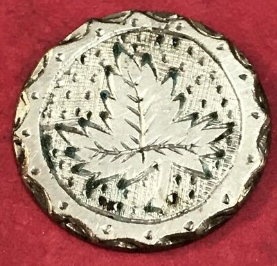 Love Token Leaf Design On Silver Great Britain Coin