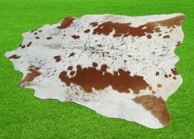 "New Cowhide Rugs Area Cow Skin Leather 24.17 sq.feet (60""x58"") Cow hide A-1011"