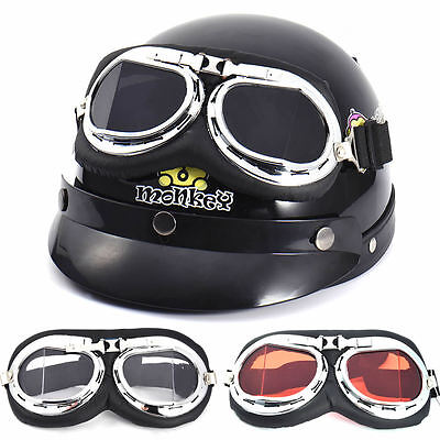 Vintage Motorcycle Scooter Mopeds Bike Aviator Pilot Style Cruiser Goggles