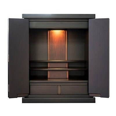 NEW! BUTSUDAN (BUDDHIST ALTAR) CABINET SHRINE 17 · Dark brown Made in Japan
