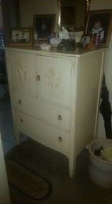 Shabby Chic Very Old Antique White Dresser/Chest Circa 1930'S?