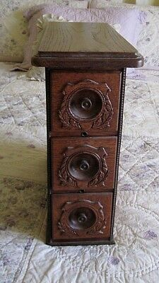 Antique Vintage Sewing Machine Drawers in Frame with Top