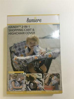 Lumiere Handy 2-in-1 Shopping Cart and Highchair Cover - Black & White Stripe