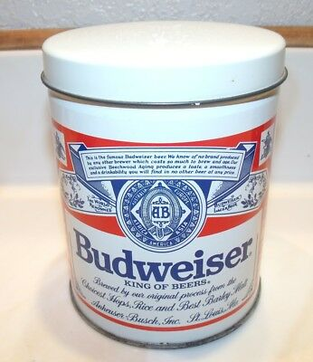 Vintage 1987 Budweiser Beer Spearmints Candy Mints Tin Can