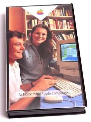 Vintage VHS At Home With Apple Computers + Original Packaging and advertisement
