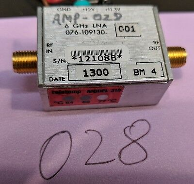 Harris C and X Band LNA 4 to 10 GHz Amplifier Tested Guaranteed (A28)