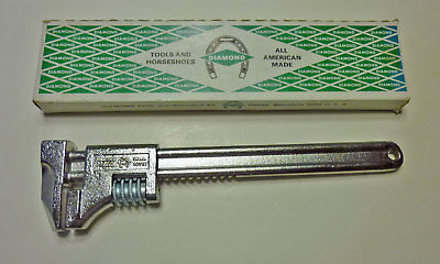 """NOS in box Diamond Tools USA 12"""" CC712 adjustable monkey wrench, new old stock"""