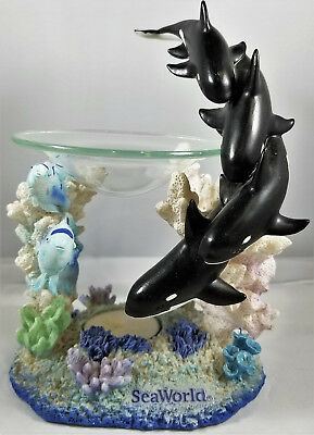 SeaWorld Orca Whale Figurine With Candle