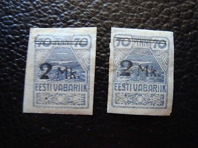 ESTONIA - stamp yvert and tellier N° 46 x2 n HD (ONE SIZE)