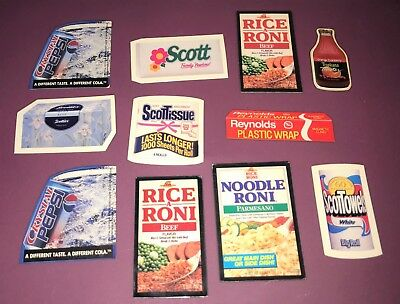 Set of 11 product magnets including Crystal Pepsi / Rice A Roni / ScottTowels