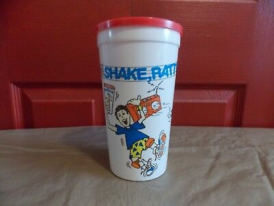 Vintage Jello Shake A Pudding Plastic Cup w/ Lid