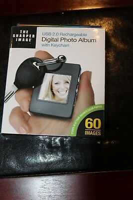 Sharper Image USB 2.0 Rechargeable Digital Photo Album with Keychain - NEW