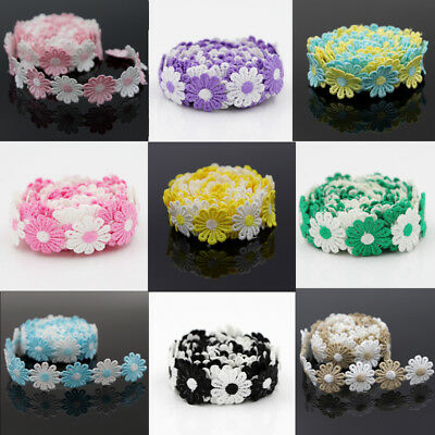 Multi-color Embelishment Daisy Venise Lace Trim Polyester DIY Sewing Crafts 3Yds