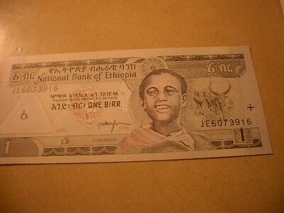Bank Of Ethiopia Banknote 1 Birr Unc