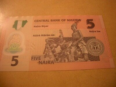 Bank Of Nigeria Banknote 5 Naira Unc