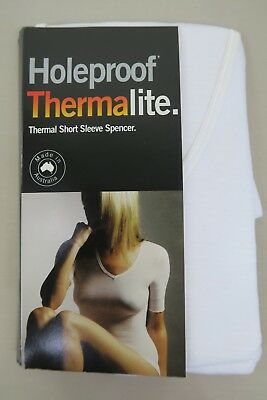 Hooleproof Ladies Short Sleeve Thermalite Thermal Spencer sz 18 20 Colour White