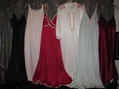 LOT OF 17 VINTAGE Lingerie 40s 50's 60s 70s Slips Nightgowns S/M/L GORGEOUS