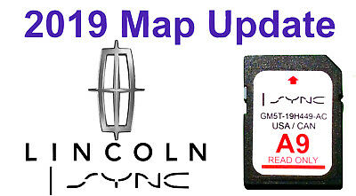 Latest 2019 Map Update LINCOLN A9 Nav Navigation GPS SD Card SYNC 2 MKX MKT MKZ