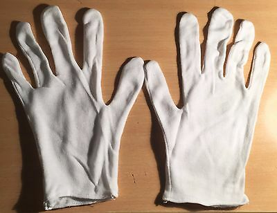 Pack of 2 (Two)  White Cotton Gloves (Medium size) Coins Stamps, Jewelry, Craft