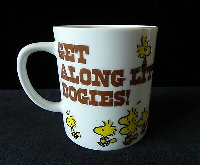 Peanuts Snoopy Woodstock GET ALONG LITTLE DOGIES COFFEE CUP 1965 United Features