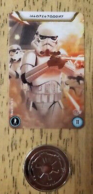 Star Wars Legion Recruitment event promo items, card and metal commmand token
